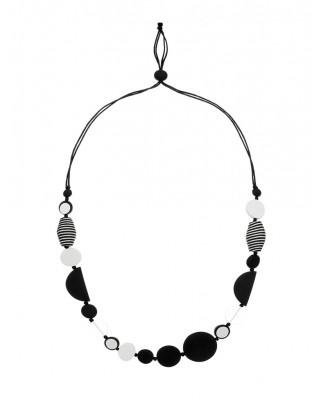 Turnabouts Abstract Adjustable Necklace